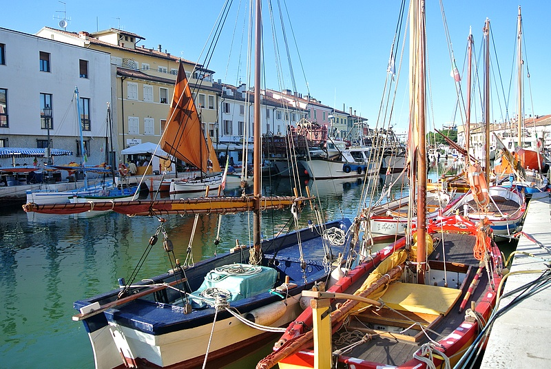 Hafenkanal in Cesenatico