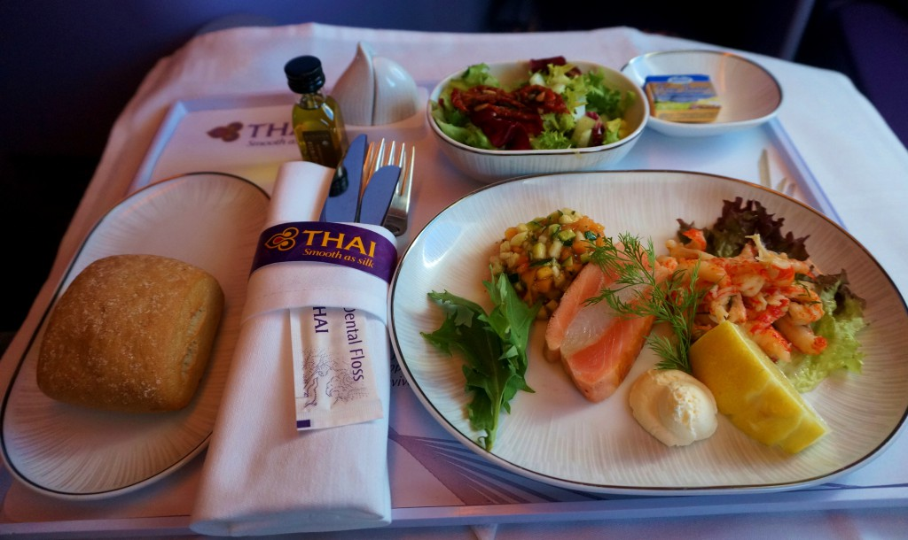 marinierte flusskrebse a380 thai airways